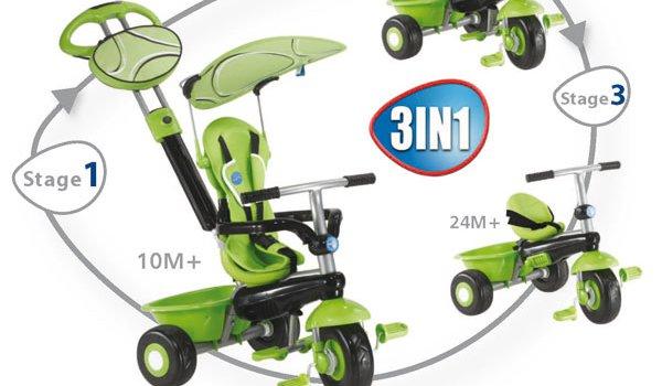 Tricycle à benne évolutif